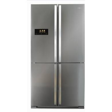CDA H1850xW910xD765 Premium Four Door Fridge Freezer - Stainless Steel