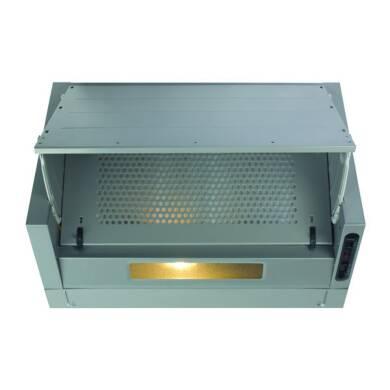 CDA H380xW600xD270 Integrated Cooker Hood - Silver