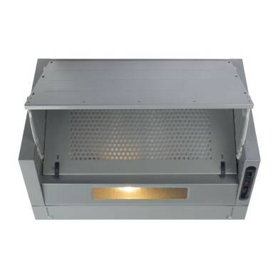 CDA H380xW600xD495 Integrated Cooker Hood - Silver