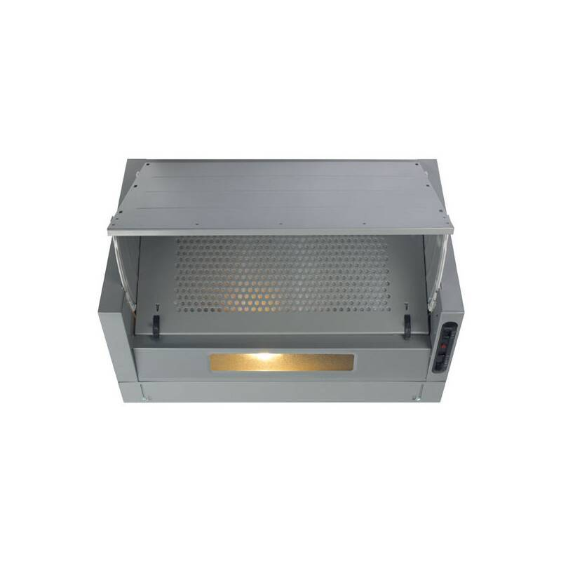 CDA H380xW600xD495 Integrated Cooker Hood - Silver primary image