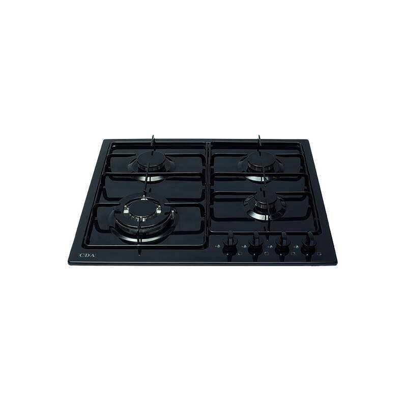CDA H43xW580xD500 Gas Hob 4 Burner - Black primary image