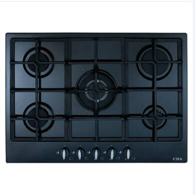 CDA H43xW680xD500 5 Burner Gas Hob - Black