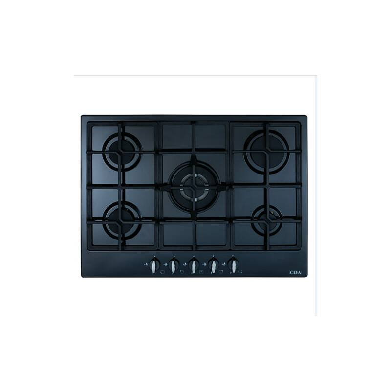 CDA H43xW680xD500 5 Burner Gas Hob - Black primary image