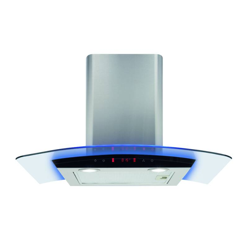 CDA H440xW700xD490 Curved Glass Chimney Hood - Stainless Steel primary image