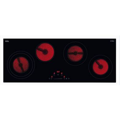 CDA H48xW900xD350 4 Zone Ceramic Hob - Black