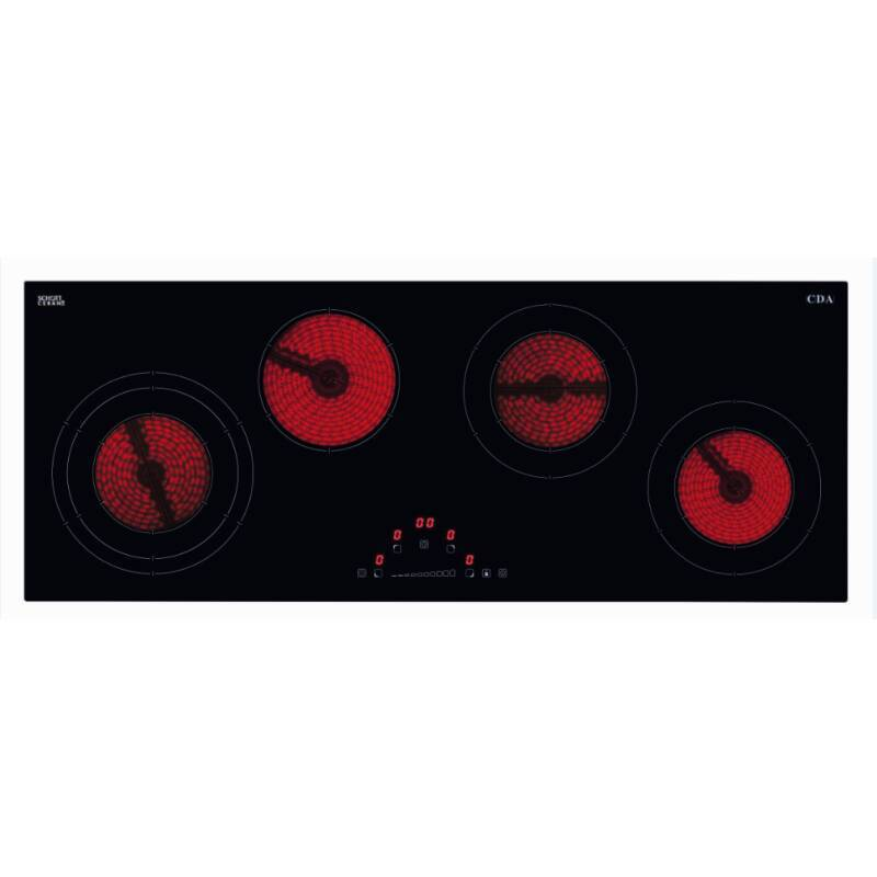 CDA H48xW900xD350 4 Zone Ceramic Hob - Black primary image