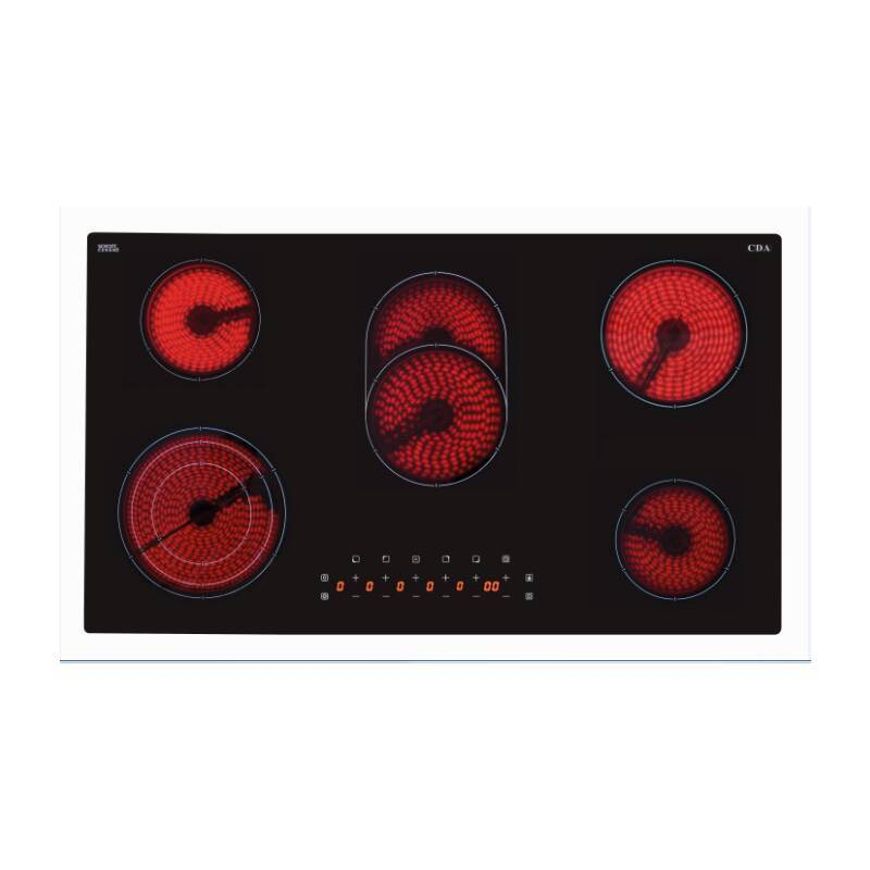 CDA H48xW900xD518 5 Zone Ceramic Hob - Black primary image