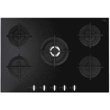 CDA H49xW750xD510 Gas-on-Glass 5 Burner Hob