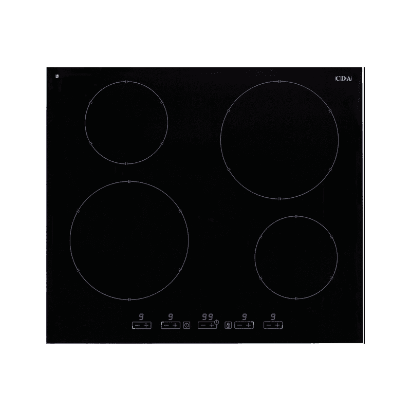 CDA H51xW580xD510 4 Zone Induction Hob - Black primary image