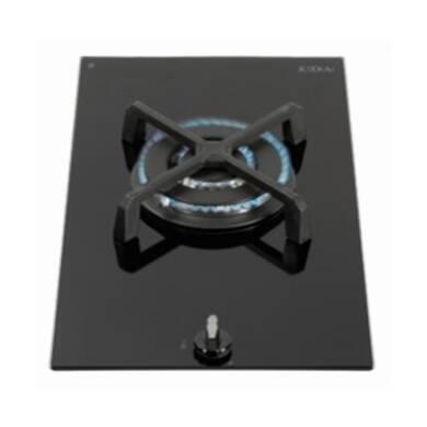 CDA H52xW300xD510 Gas-on-Glass 1 Burner Hob - Black Glass