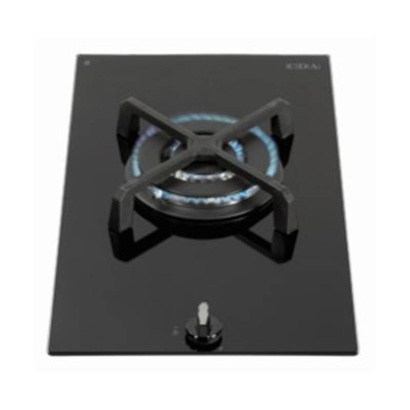 CDA H52xW300xD510 Gas-on-Glass 1 Burner Hob - Black Glass primary image