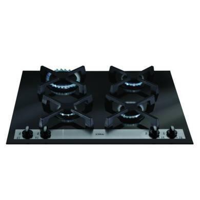 CDA H52xW585xD510 Gas-on-Glass 4 Burner Hob - Black Glass