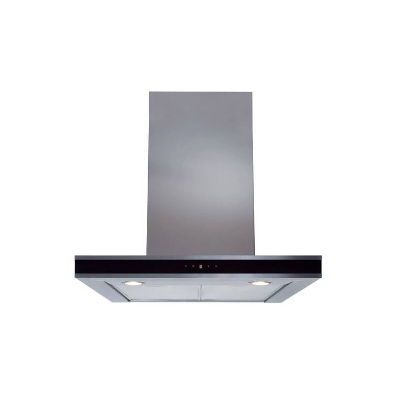 CDA H580xW600xD490 Chimney Cooker Hood - Stainless Steel - Black Trim primary image