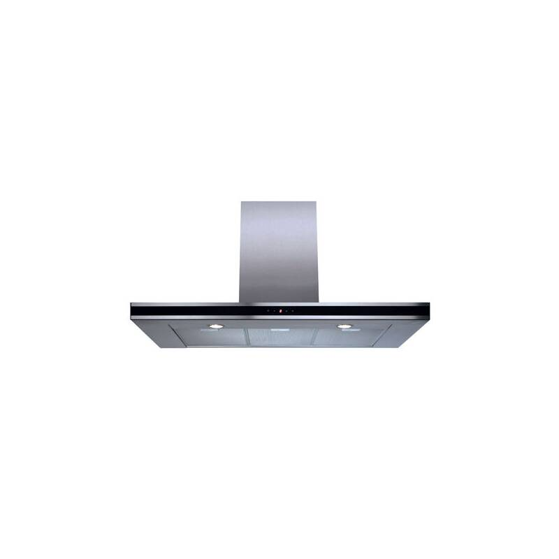 CDA H580xW900xD490 Chimney Cooker Hood - Stainless Steel - Black Trim primary image