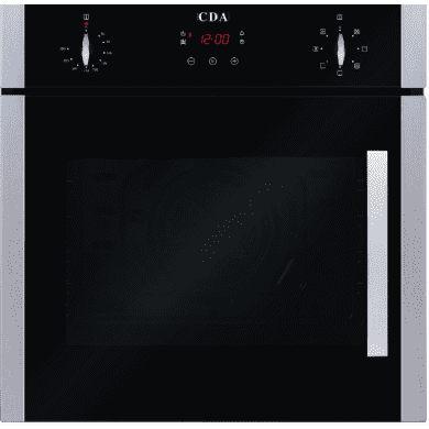 CDA H595xW595xD547 Single Multi-Function Side Opening Oven - Stainless Steel