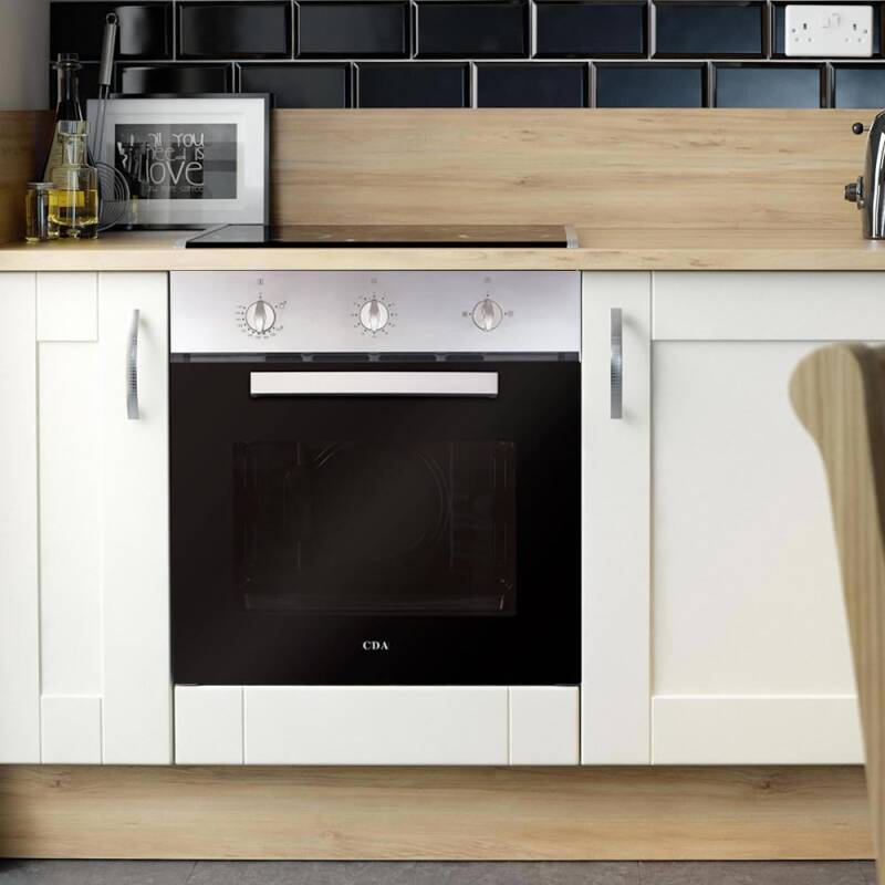 cda h595xw595xd559 single gas oven stainless steel. Black Bedroom Furniture Sets. Home Design Ideas