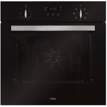 CDA H595xW595xD567 Single Multi-Function Oven - Black