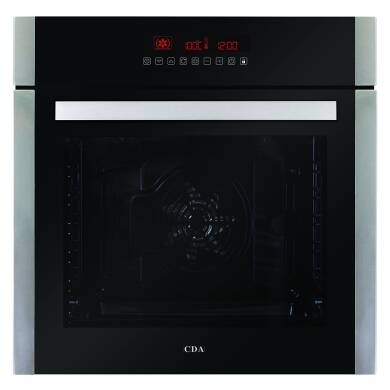 CDA H595xW595xD567 Single Multi-Function Oven - Stainless Steel