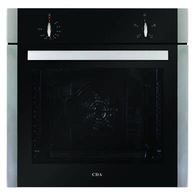 CDA H595xW595xD571 Single Electric Fan Oven - Stainless Steel