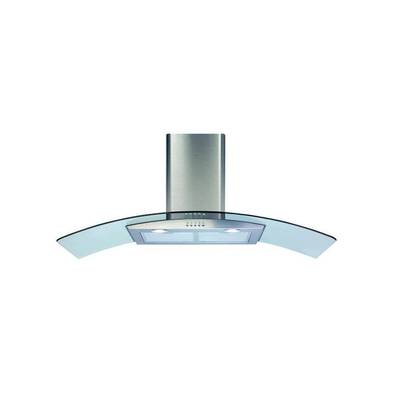 CDA H630xW1100xD500 Curved Glass Chimney Cooker Hood - Stainless Steel primary image