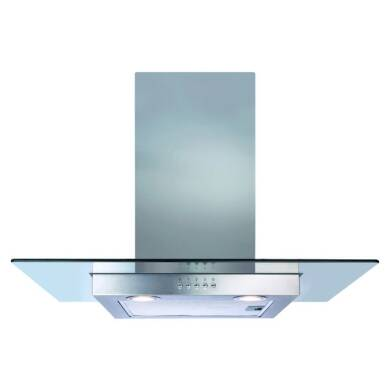 CDA H640xW700xD500 Flat Glass Chimney Cooker Hood - Stainless Steel