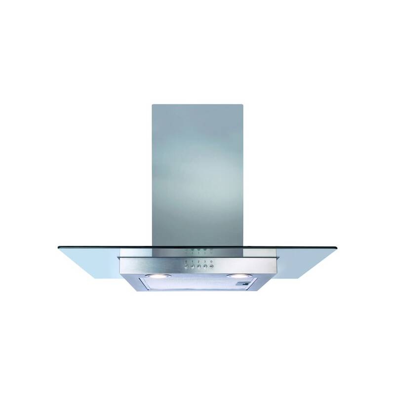 CDA H640xW700xD500 Flat Glass Chimney Cooker Hood - Stainless Steel primary image