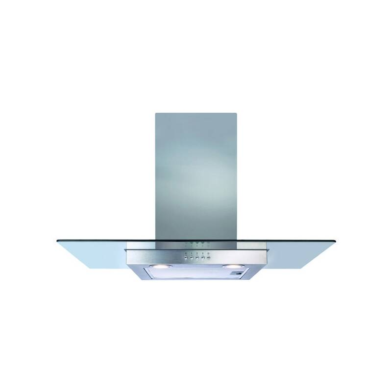 CDA H640xW900xD500 Flat Glass Chimney Cooker Hood - Stainless Steel primary image