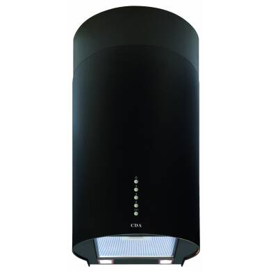 CDA H680xW301xD380 Cylinder Chimney Cooker Hood - Black