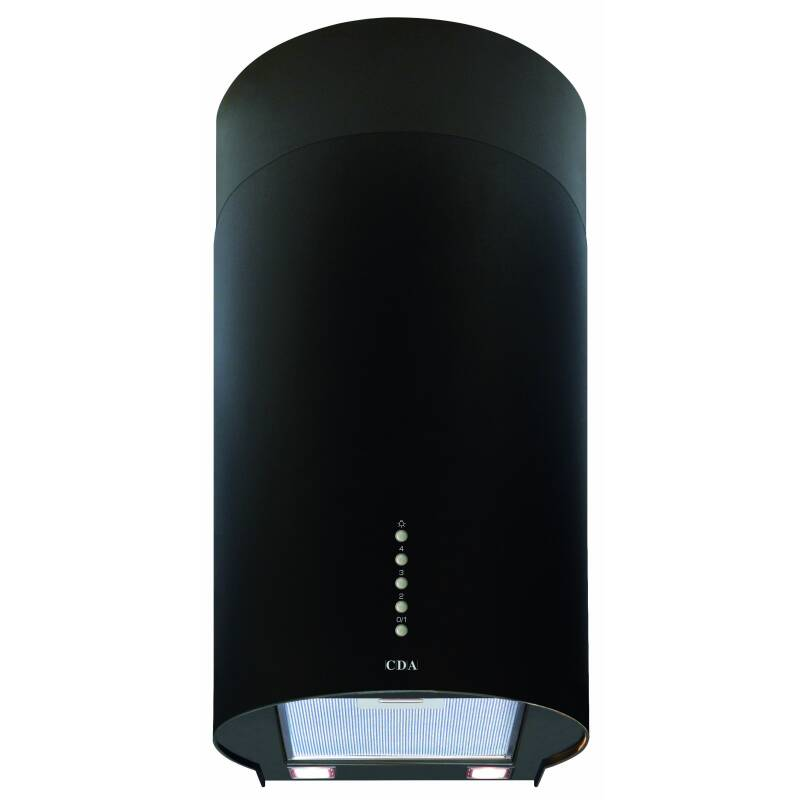 CDA H680xW301xD380 Cylinder Chimney Cooker Hood - Black primary image
