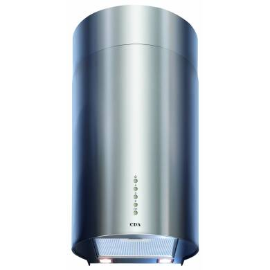 CDA H680xW380xD301 Cylinder Chimney Cooker Hood - Stainless Steel