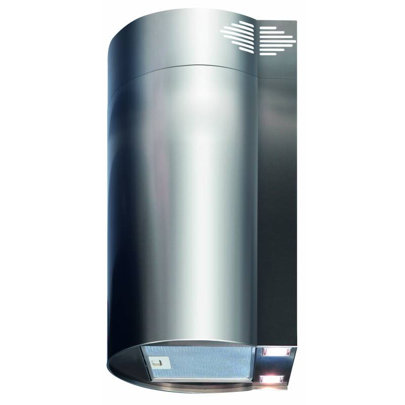 CDA H680xW380xD301 Cylinder Chimney Cooker Hood - Stainless Steel additional image 1