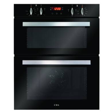 CDA H718xW595xD562 Built-Under Electric Double Oven - Black