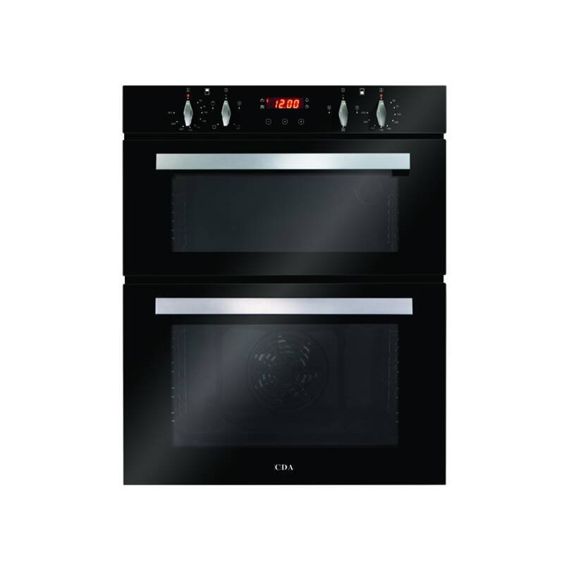 CDA H718xW595xD562 Built-Under Electric Double Oven - Black primary image