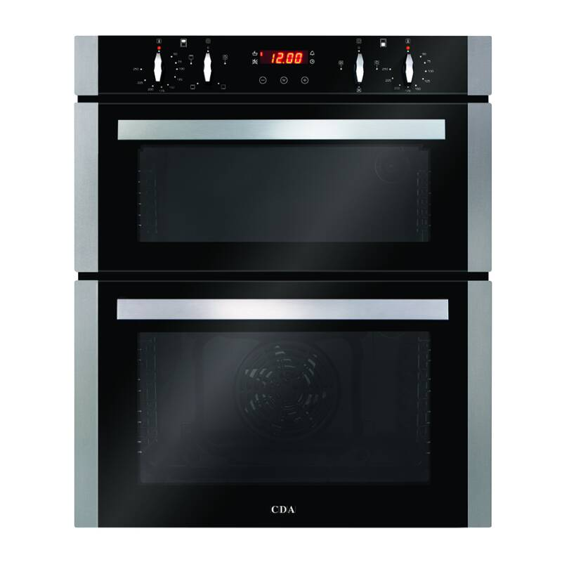CDA H718xW595xD564 Built-Under Electric Double Oven - Stainless Steel primary image