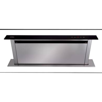 CDA H720xW860xD116 Downdraft Integrated Cooker Hood - Black