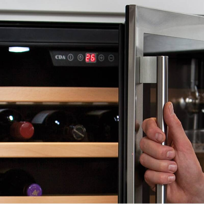 CDA H820-888xW295xD570 Under Counter Wine Cooler - Stainless Steel additional image 1