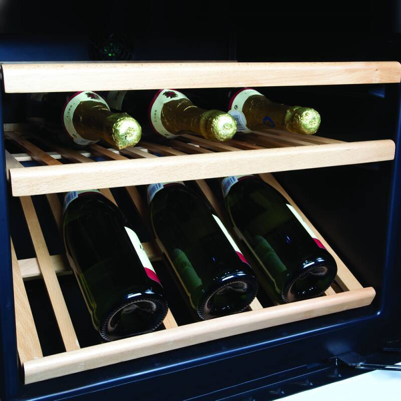 CDA H820-888xW595xD570 Freestanding Double Door Wine Cooler - Black additional image 2