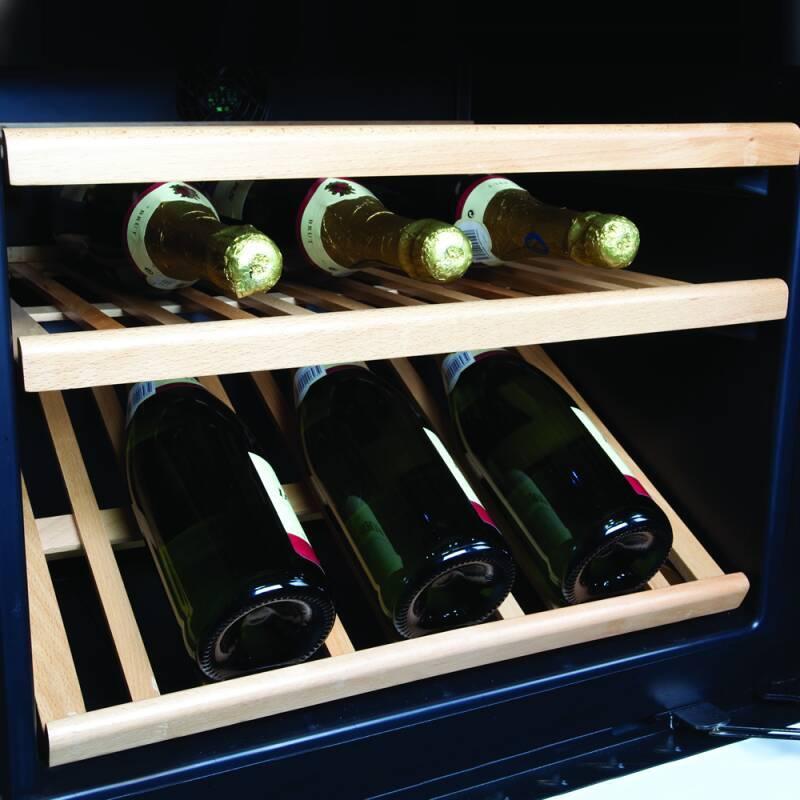 CDA H820-888xW595xD570 Freestanding Double Door Wine Cooler - Black additional image 2