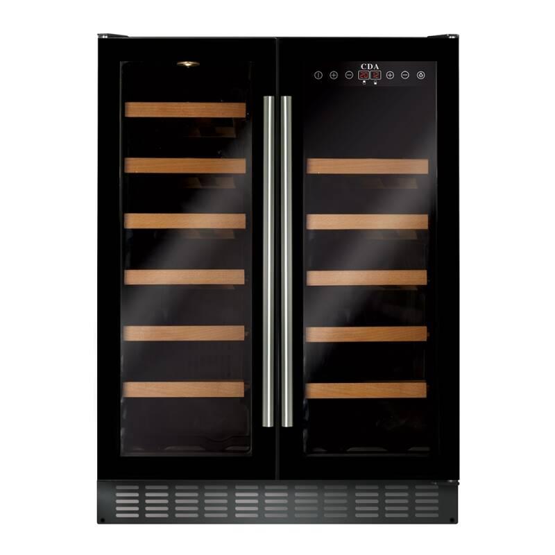 CDA H820-888xW595xD570 Under Counter 2 Door Wine Cooler - Black (2 Zone) primary image