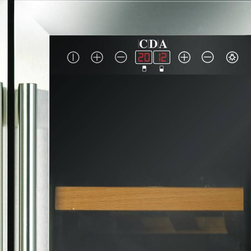 CDA H820-888xW595xD570 Under Counter 2 Door Wine Cooler - Stainless Steel (2 Zone) additional image 3