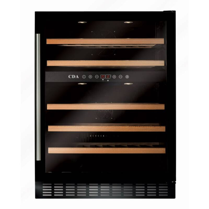 CDA H820-888xW595xD570 Under Counter Wine Cooler - Black (2 Zone) primary image