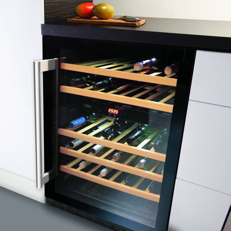 CDA H820-888xW595xD570 Under Counter Wine Cooler - Black (2 Zone) additional image 3