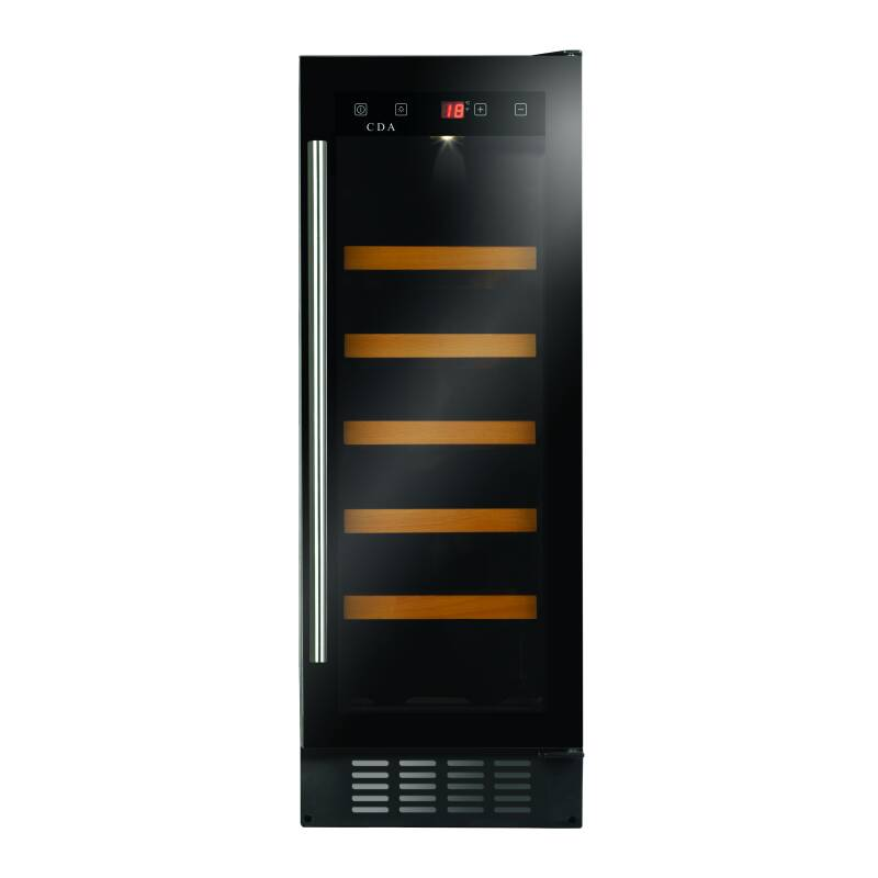 CDA H820xW295xD570 Under Counter Wine Cooler - Black primary image