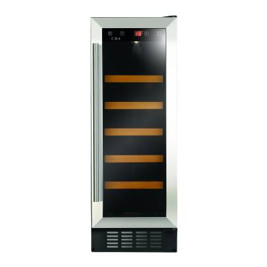 CDA H820xW295xD570 Under Counter Wine Cooler - Stainless Steel
