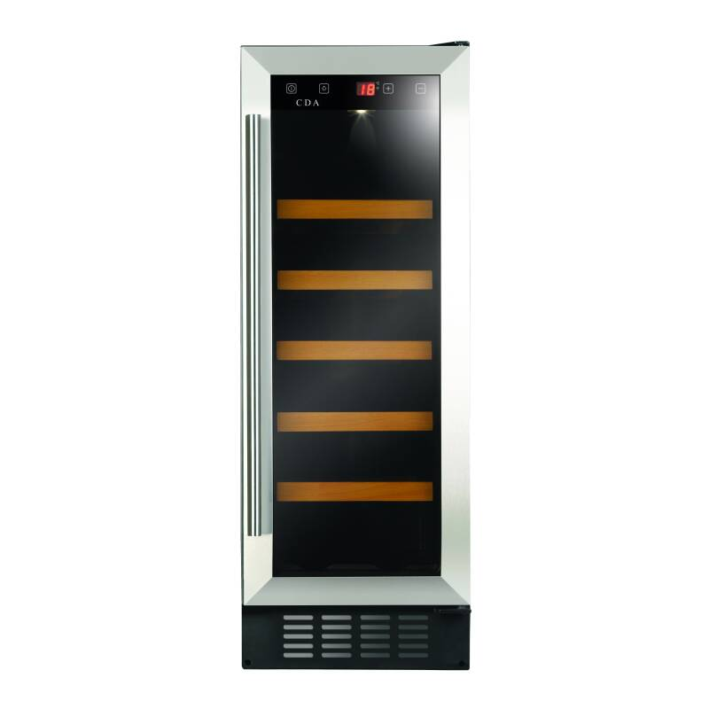 CDA H820xW295xD570 Under Counter Wine Cooler - Stainless Steel primary image