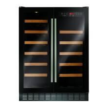 CDA H820xW595xD570 Under Counter 2 Door Wine Cooler - Black