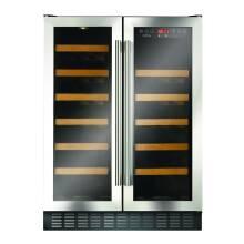 CDA H820xW595xD570 Under Counter 2 Door Wine Cooler - Stainless Steel