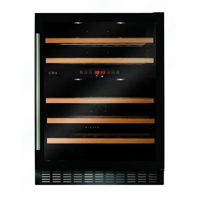 CDA H820xW595xD570 Under Counter Wine Cooler - Black