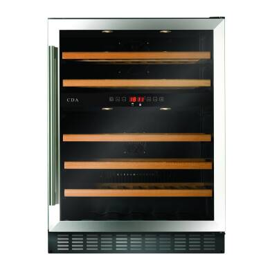 CDA H820xW595xD570 Under Counter Wine Cooler - Stainless Steel