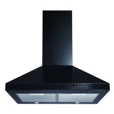 CDA H820xW600xD500 Chimney Cooker Hood - Black